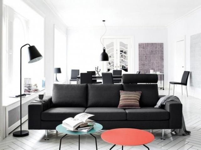 Salon Moderne Design Noir Et Blanc 2 salons Pinterest Salons
