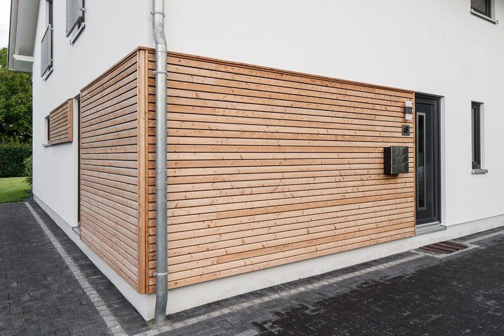Photo of Wohnen und Arbeiten #terassegestalten Holzverkleidung am Architek