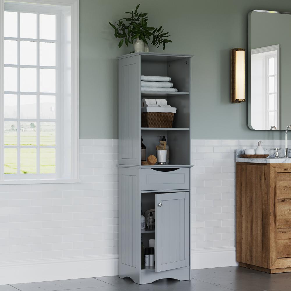 Riverridge Ashland Collection Tall Linen Cabinet For Bathroom Storage Gray Walmart Com Ashland Ba Linen Cabinet Wall Mounted Bathroom Cabinets Tall Cabinet [ 1000 x 1000 Pixel ]