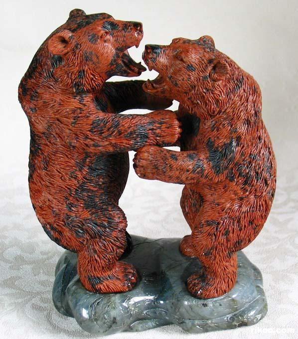 Mahogany Obsidian Crystal Bears