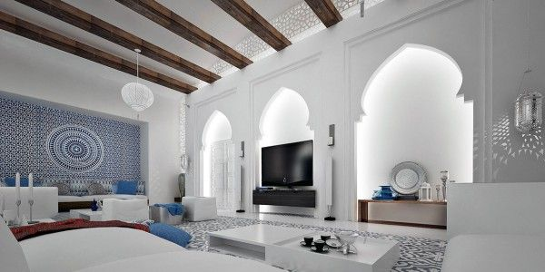 This particular house is rich with Moroccan details but also