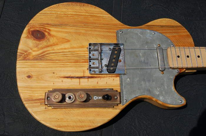 Just Finished A Lescaster X2f Barncaster Build Body Is Reclaimed Pine From A Texas Concrete Factory Got The B Luthier Guitar Guitar Building Guitar Design