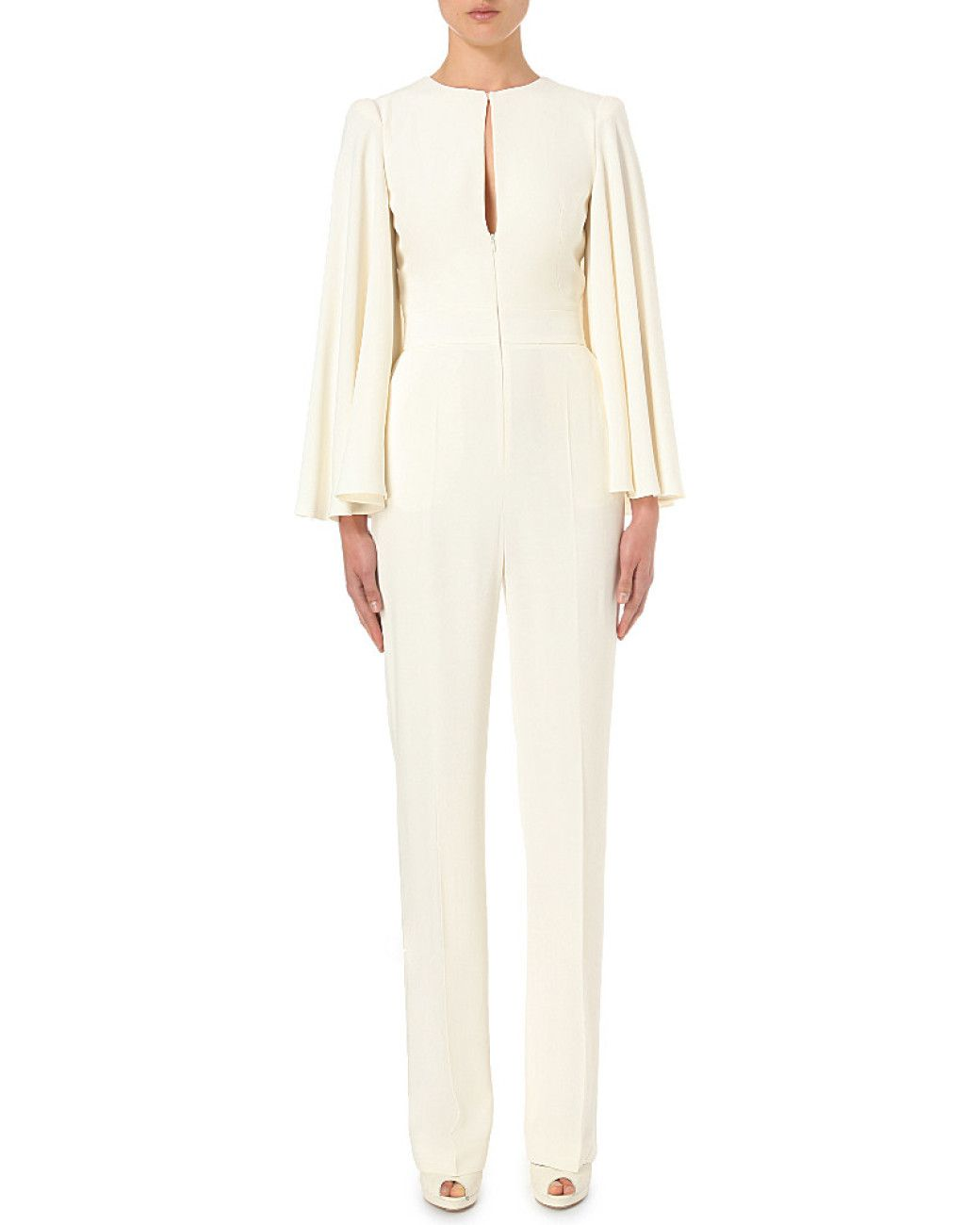 019cca67db8f Women s White Cape-detail Crepe Jumpsuit