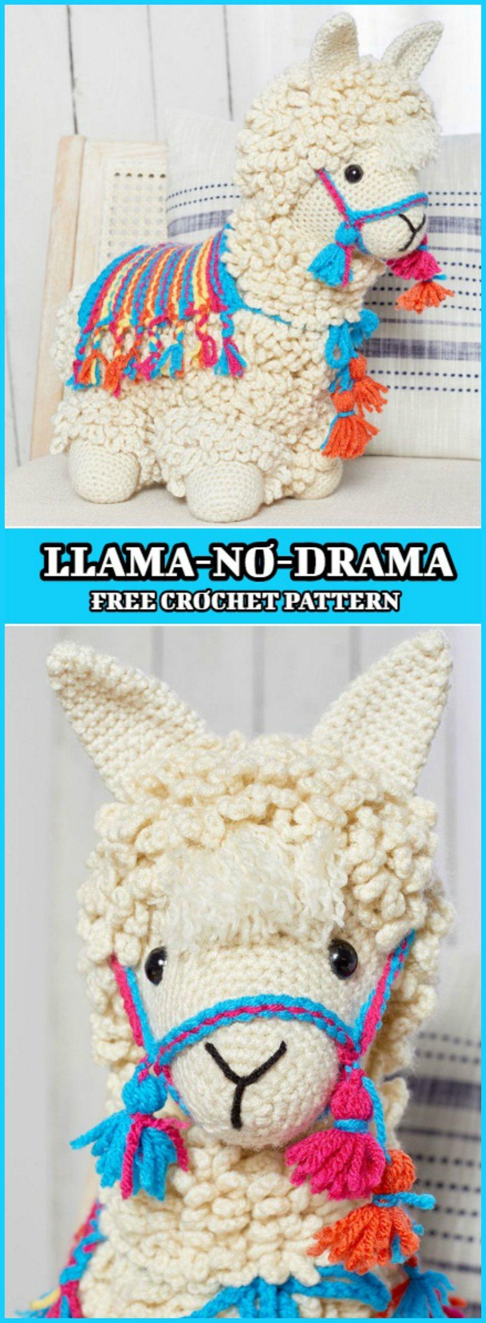 How To Crochet Llama - Free Pattern | Patrones amigurumi, Tejido y ...