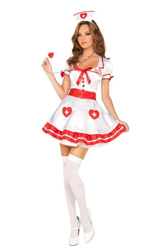 Ladies Naughty Nurse Medical Doctor ER Hospital Fancy Dress Party Costume