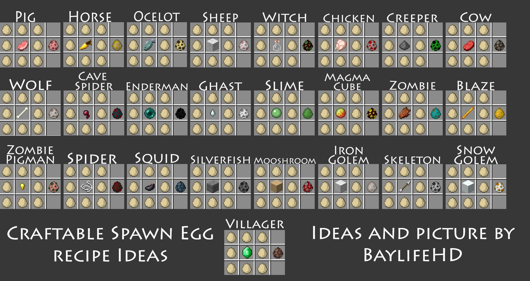 Request 162 craftable spawn eggs requests ideas for mods request craftable spawn eggs requests ideas for mods minecraft mods mapping and modding minecraft forum minecraft ccuart Choice Image
