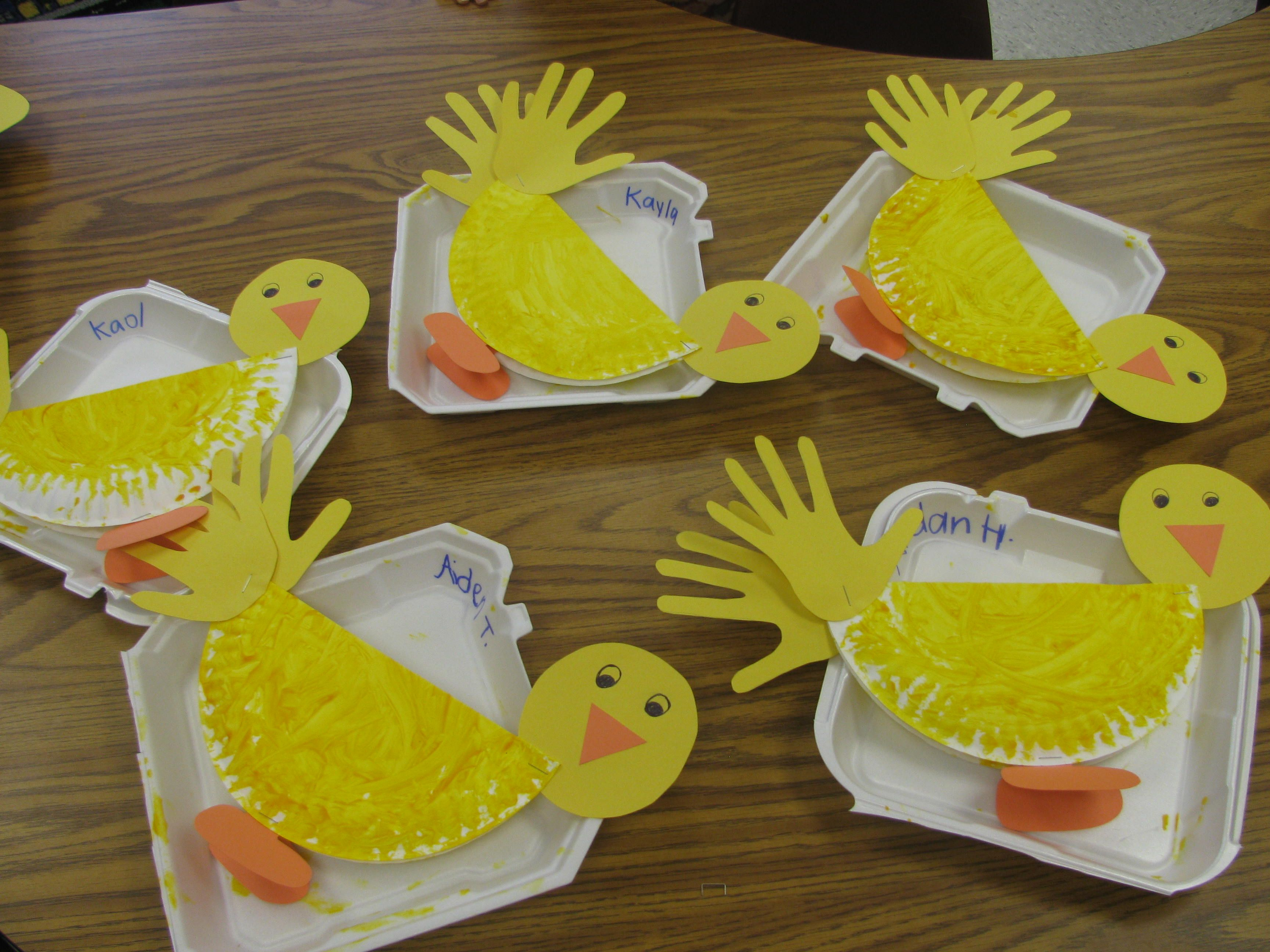 Preschool Class Ke Ducks Other Bird Handprint Activity
