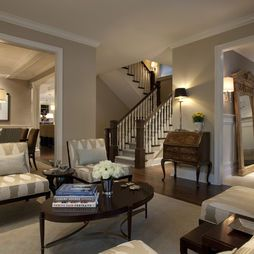 Houzz Living Room Paint How To Decorate A Without Fireplace Shaker Beige Color For