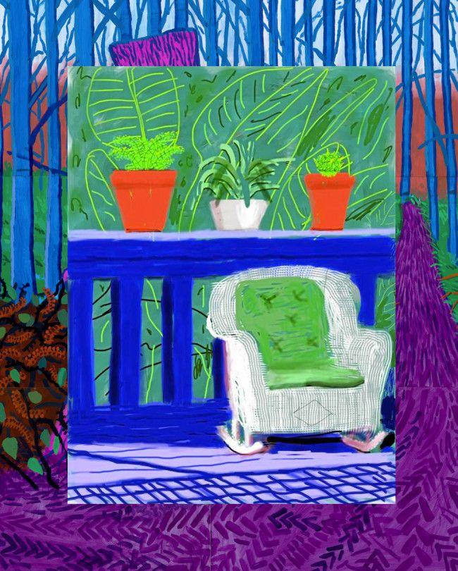 Idée (co) : inspiration David Hockney en 2020   Art ludique, Peinture contemporaine et Tableau ...