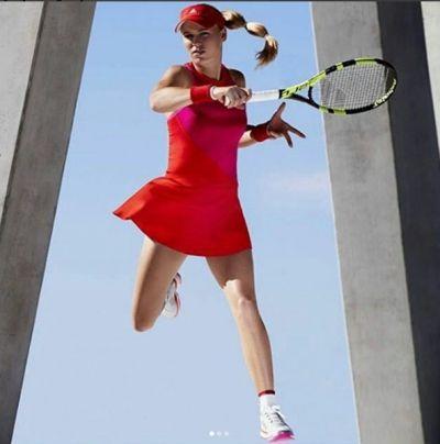 Caroline Wozniacki's #Adidas Stella McCartney New York Dress for the 2017 US Open #tennisfashion
