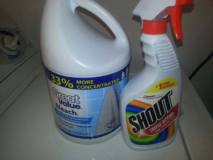 how to remove bleach stains from white clothes