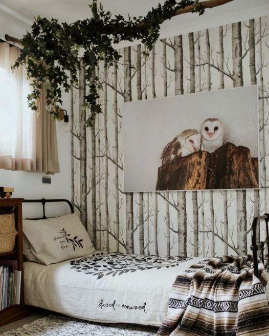 Kids Rooms On Instagram Tree Wallpaper Bedroom Wallpaper Bedroom Room Wallpaper