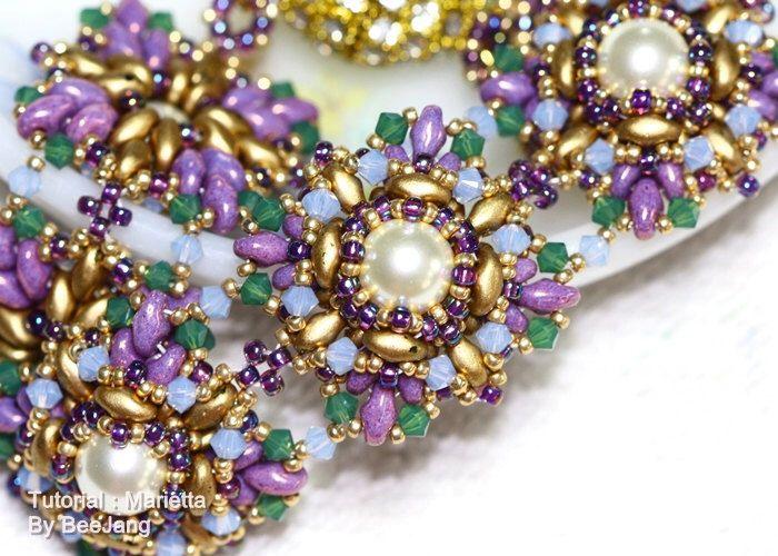 Tutorial - Marietta Bracelet di bybeejang su Etsy https://www.etsy.com/it/listing/160166366/tutorial-marietta-bracelet