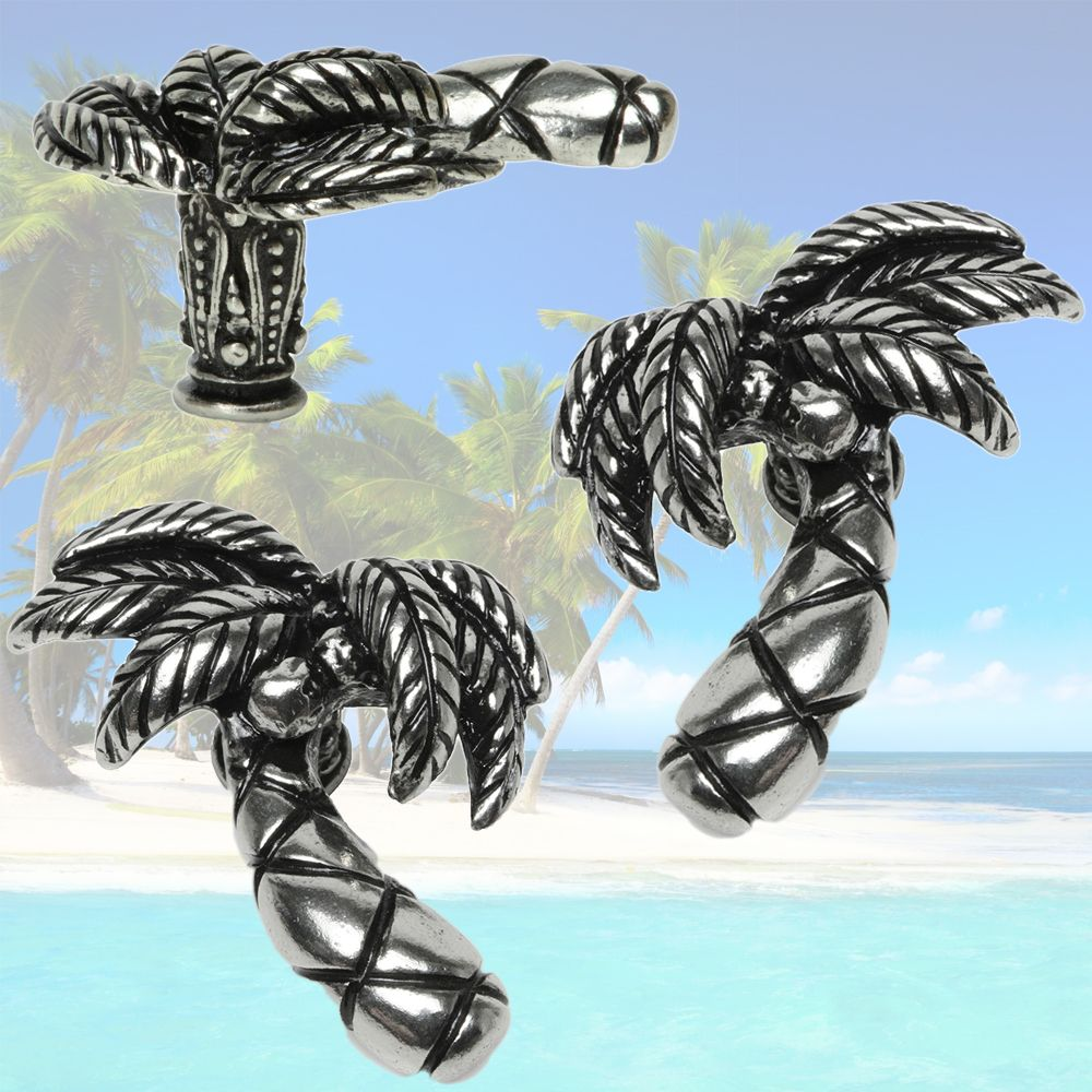 Palm Tree Left Right Curved L 2 1 W 3 4 H Hand Made In Usa Cabinethardware Hardware