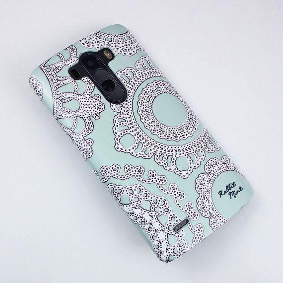 size 40 8957d 30d3d LG G3 Case Lace on the Mint P00006 by rabbitmint on Etsy | Buy ...