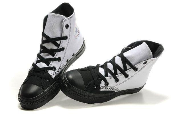 0ca8c1b236d7 Black   white wing-tip Chucks  converse  chucktaylor  hightops ...