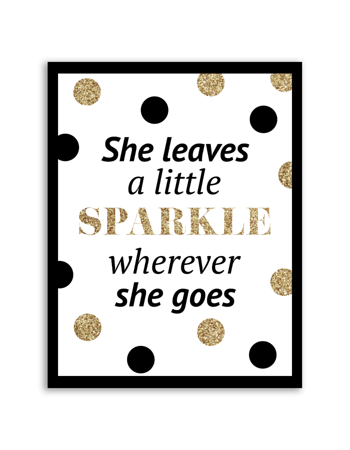 She Sprinkles A Little Sparkle Printable Wall Art Wall Decor Printables Wall Printables Free Printable Wall Art