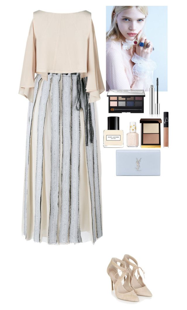 """Event"" by eliza-redkina ❤ liked on Polyvore featuring Proenza Schouler, Topshop, Tom Ford, NARS Cosmetics, Marc Jacobs, Essie and Yves Saint Laurent"