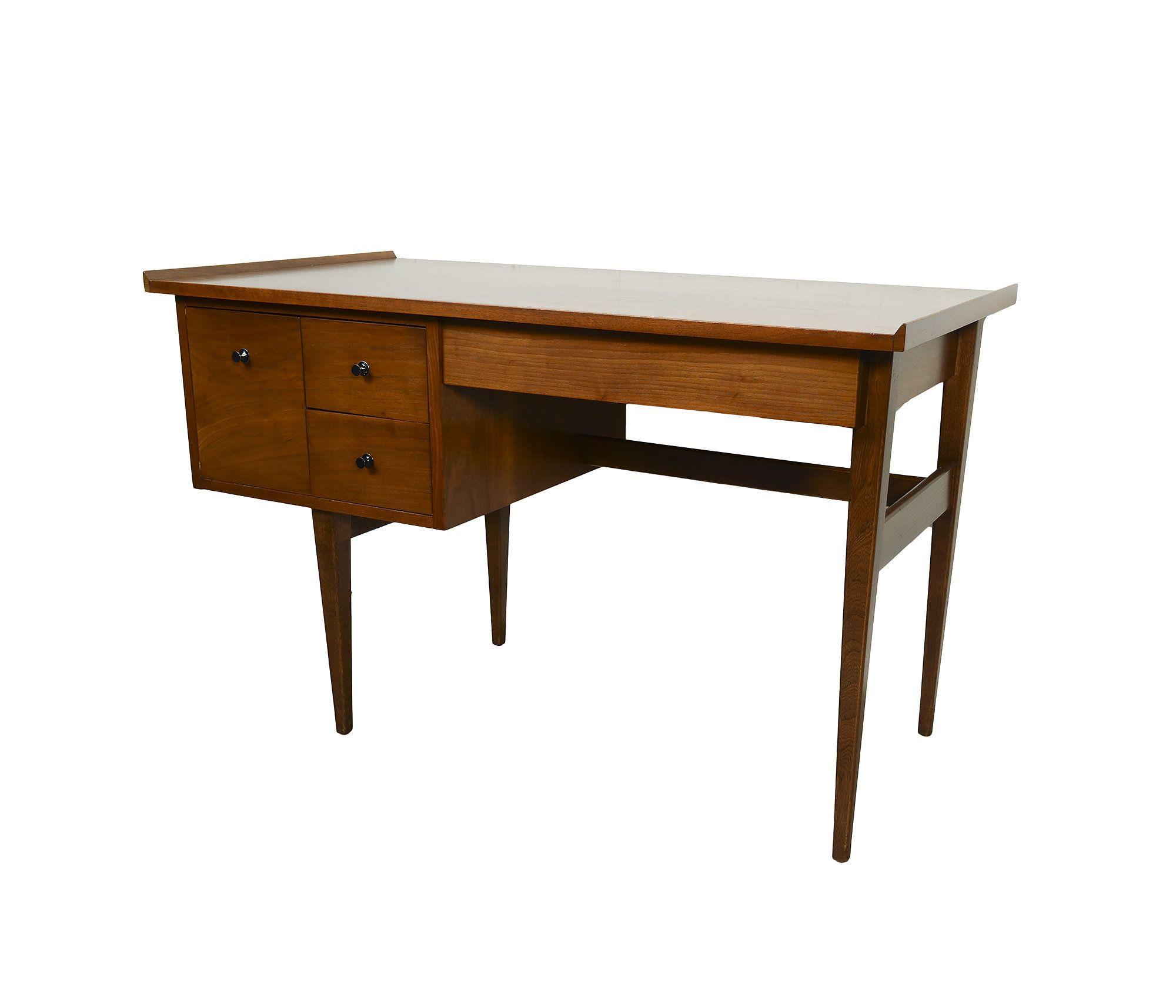 Walnut Desk American Of Martinsville Mid Century Modern Walnut Desks Desk Mid Century Modern