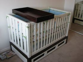 Diy Crib Top Changing Table Great Clear Instructions And A Fraction Of The Cost This Is On List For Next Baby