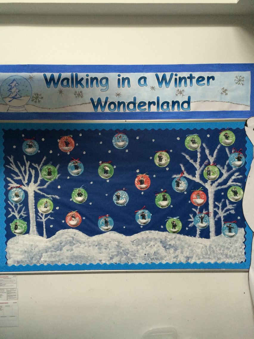 Walking in a winter wonderland display in EYFS | Birthday ...