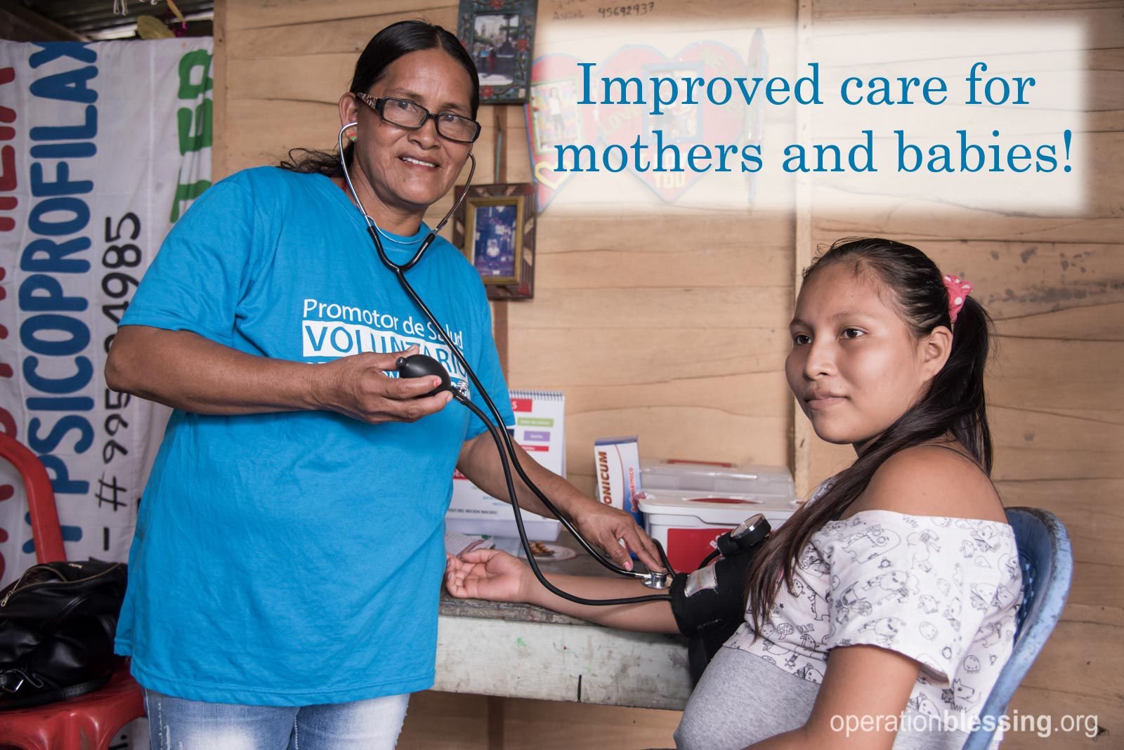 Three years ago, Elsa began attending classes with Operation Blessing to become a community health worker. Health workers are trained to be first responders and agents of change in their vulnerable villages on the topics of prenatal care, wound treatment and general first aid. Read more of her story here...