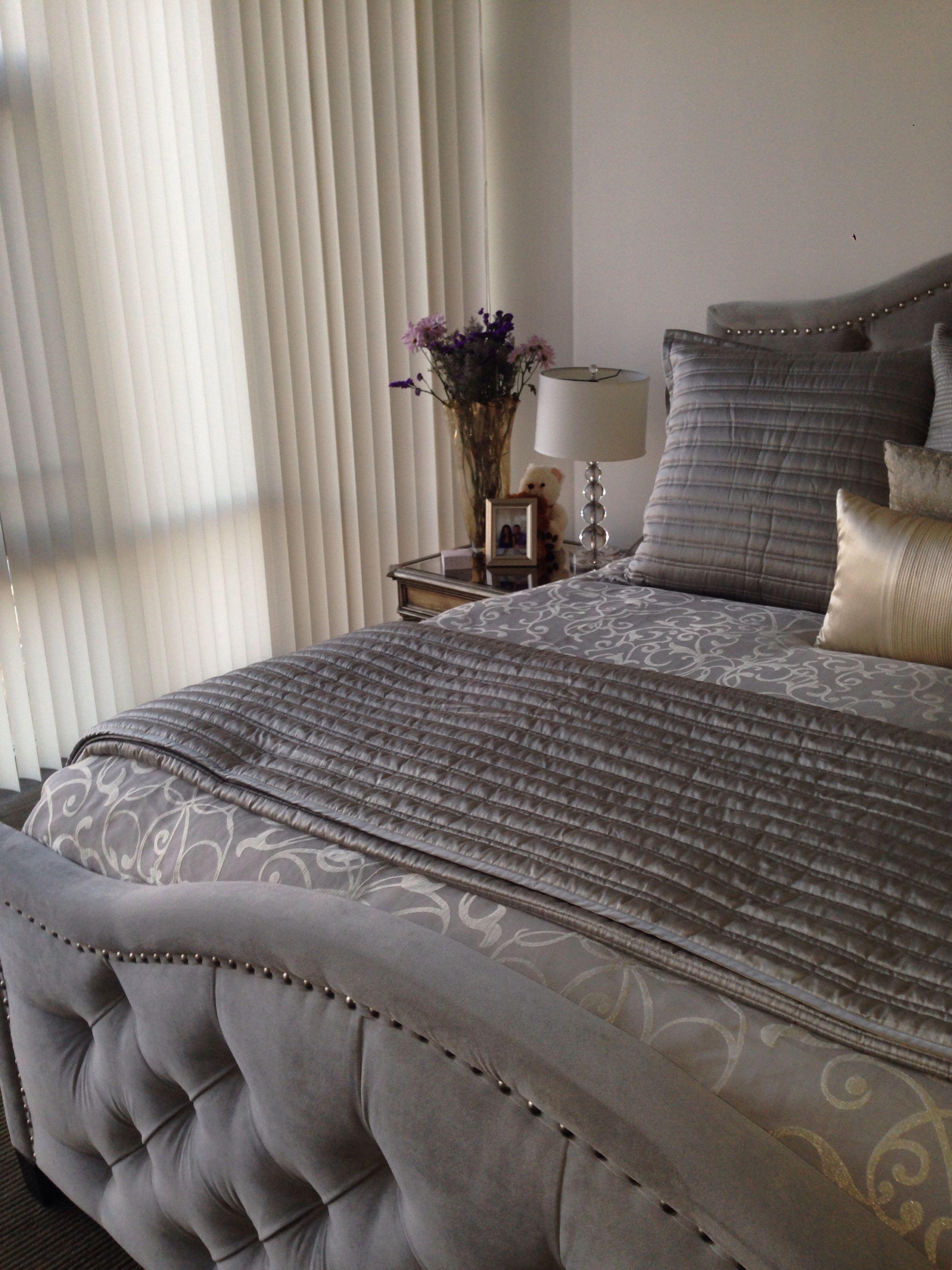 Z Gallerie Bedroom Furniture. Grey bedroom. #grey #gold # ...