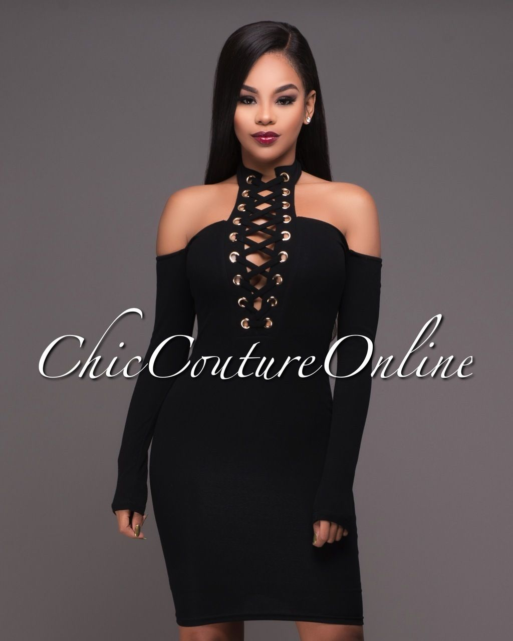 Terriska Black Cut-Out Shoulders Dress. Chic Couture OnlineSexy Outfits Kitchen ...