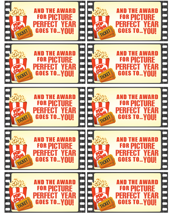 Movie Night Teacher Gift Sorpresas Teacher Gift Tags