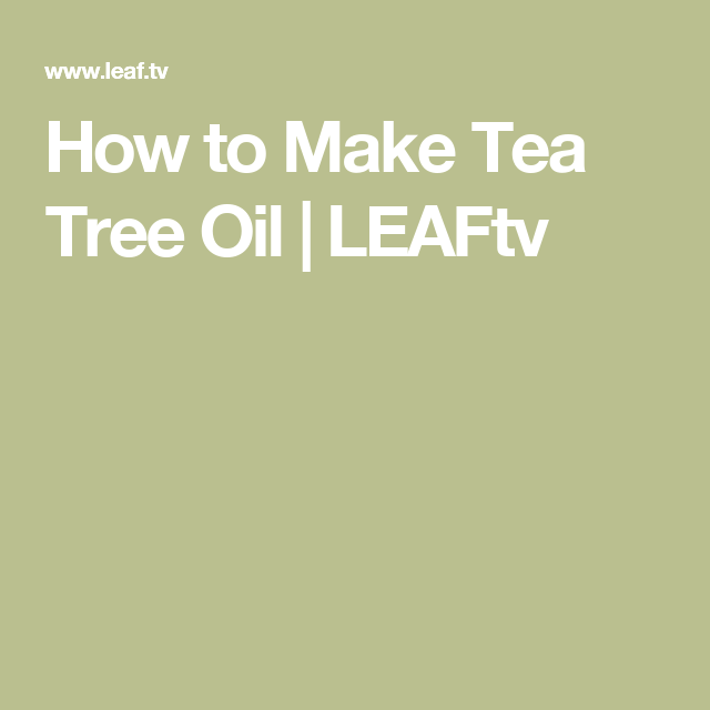 How to Make Tea Tree Oil | LEAFtv