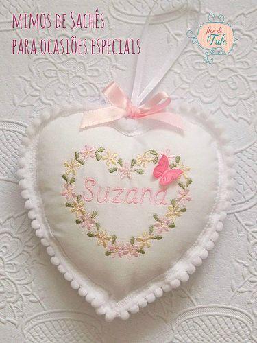 sachê coração bordado - Atelier Flor de Tule DSCN7936 | Flickr - Photo Sharing!