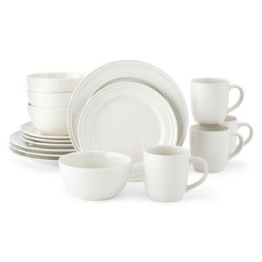 JCPenney Home™ Stoneware 16-pc. Dinnerware Set - JCPenney $50  sc 1 st  Pinterest & JCPenney Home™ Stoneware 16-pc. Dinnerware Set - JCPenney $50 ...