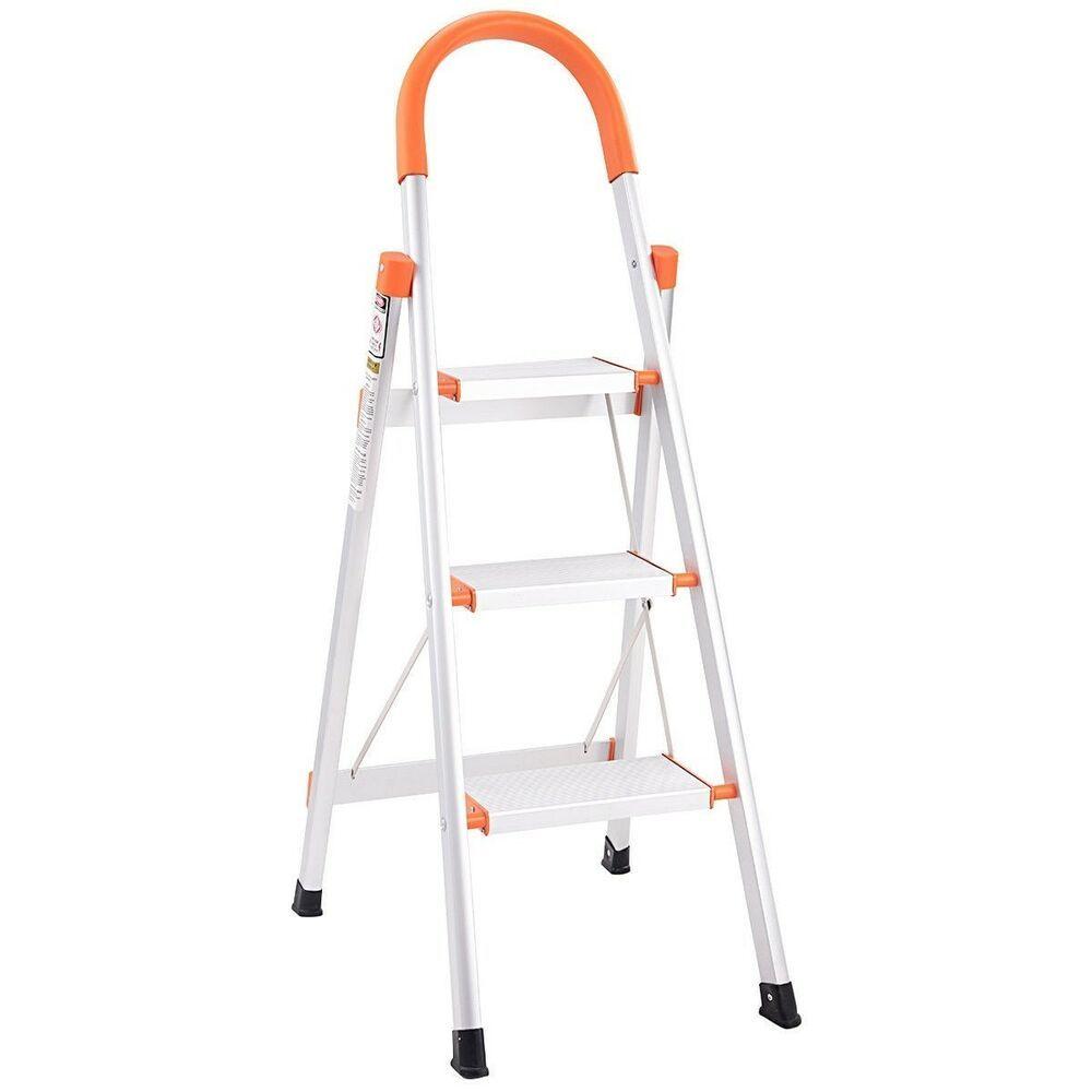 Ladder Non-slip 3 Step Aluminum Platform Stool 330 lbs Load Capacity
