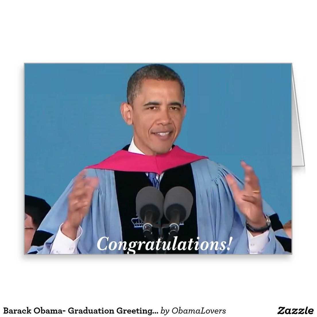 Barack obama graduation card m greeting card any obama supporter barack obama graduation card m greeting card any obama supporter would love to get a graduation card with the president on it congratulating him kristyandbryce Choice Image
