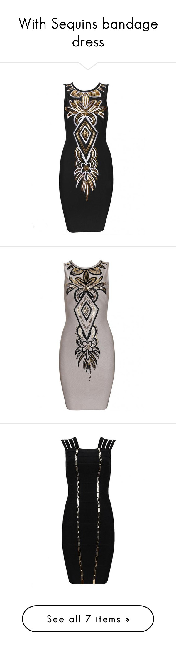 """""""With Sequins bandage dress"""" by celebindress ❤ liked on Polyvore featuring dresses, sequin mesh dress, bandage dress, brown bandage dress, brown long sleeve dress and long sleeve sequin dress"""