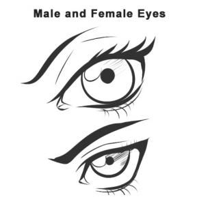 Female and male vampire eyes