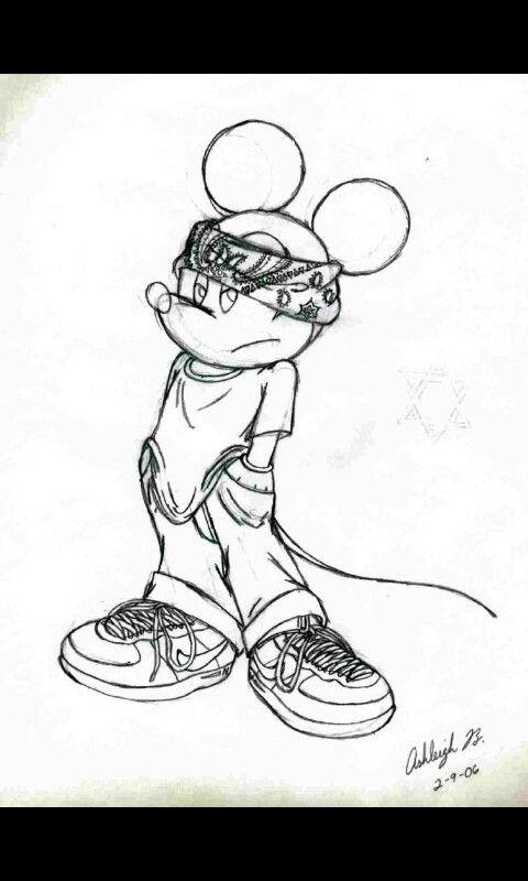 Gangsta Mickey Cartoons Lil Homies Betty Boop 70 80 90 2000