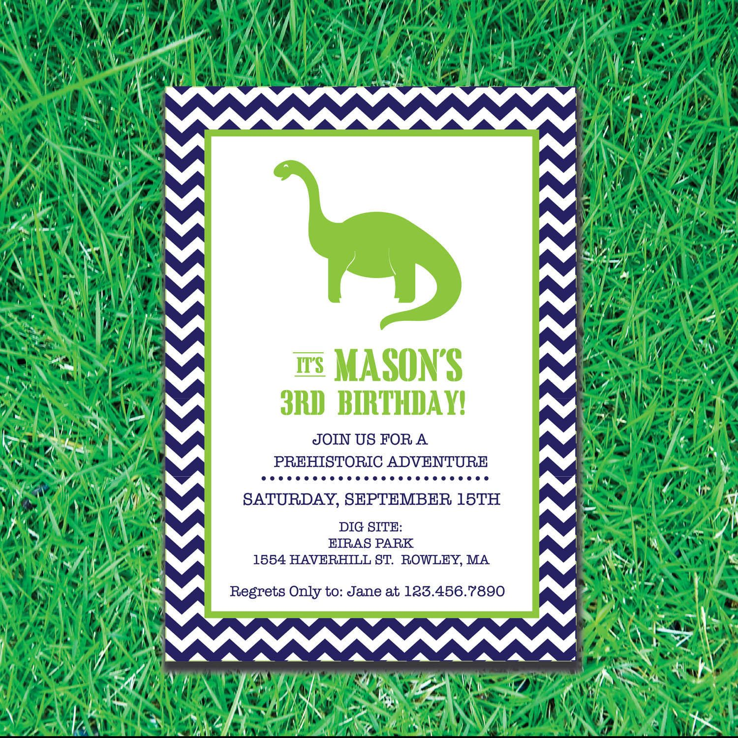 Free Printable Dinosaur Birthday Party Invitations Es 5th