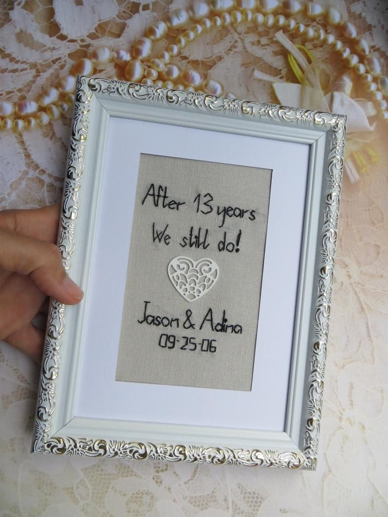4th 13th 12th anniversary gift for him or her Linen or