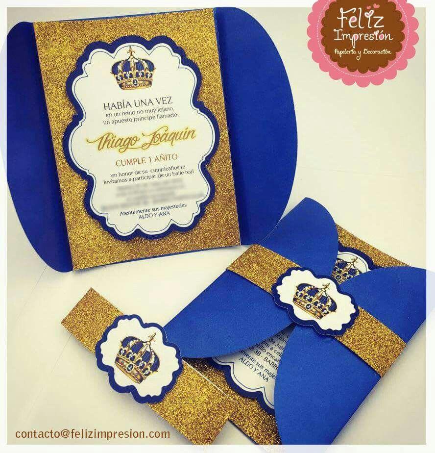 Tarjeta Invitación Corona Tarjetas De Cumpleaños Tarjetas