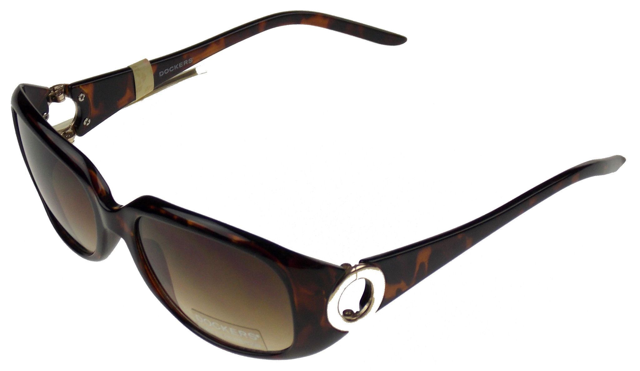 c6b84257932 Levi Strauss   Co DOCKERS Womens Sunglasses Oval Lenses Plastic Frame 100%  UV Protection Frame Style  Oval Lens Tint  Brown Frame  Brown Marbled Lens  Width  ...