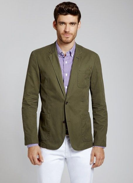 Mens Green Blazer - Trendy Clothes