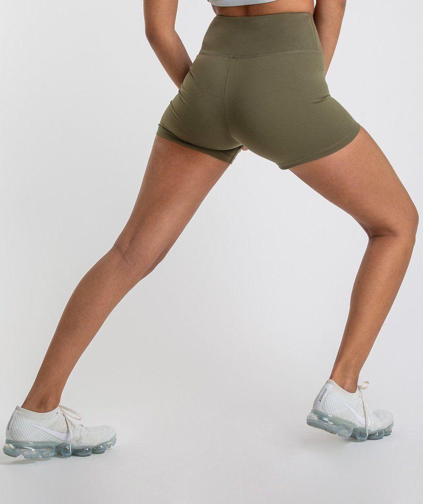 original discount for sale recognized brands Gymshark Dreamy High Waisted Shorts - Khaki   //gymshark ...