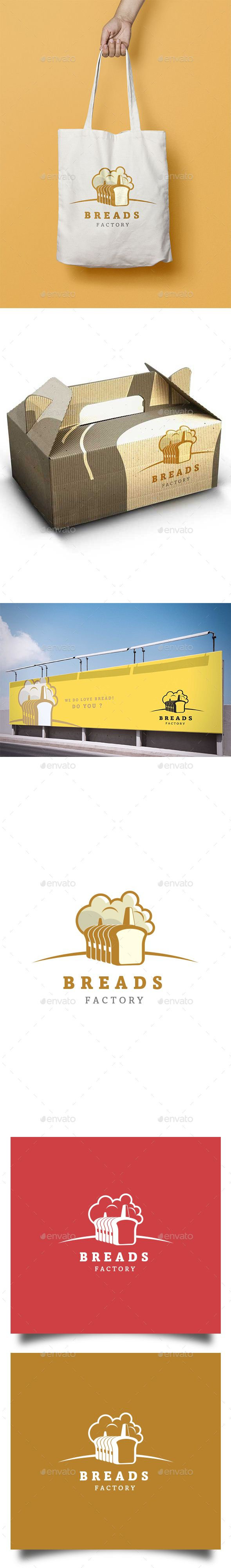 Bread Factory by pixellord Bread Factory logo design is applicable for food industry especially bread related business. It is simple yet elegant and vintage
