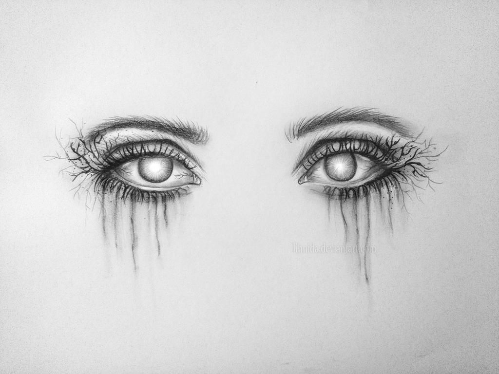 Creepy Eyes By Lihnida Creepy Eyes Eye Drawing Scary Drawings