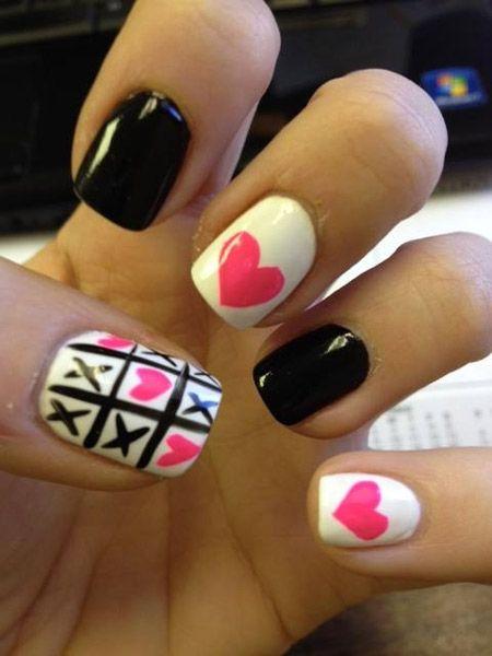Cute Valentine's day nails. - Cute Valentine's Day Nails. Nails Pinterest Fashion Diva