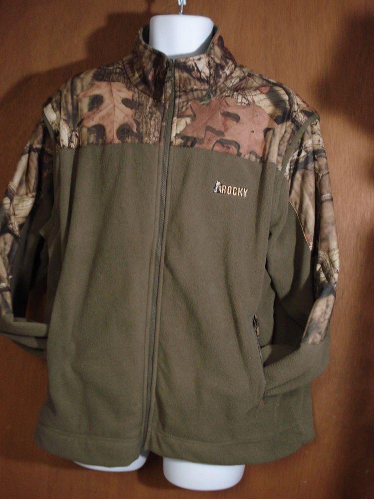 bc043767ce49d MEN'S ROCKY CAMO FLEECE JACKET/VEST SIZE XL-BROWN WITH CAMO #Rocky  #FleeceJacket
