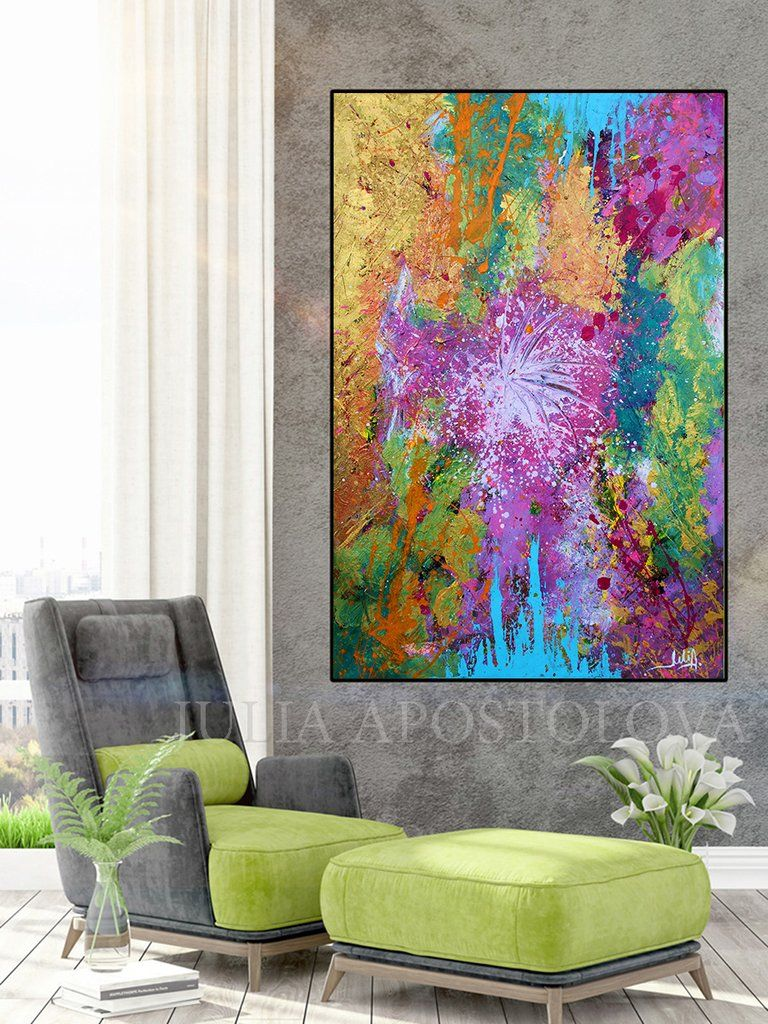 Contemporary Colourful Design Abstract Canvas Wall Art Picture Print