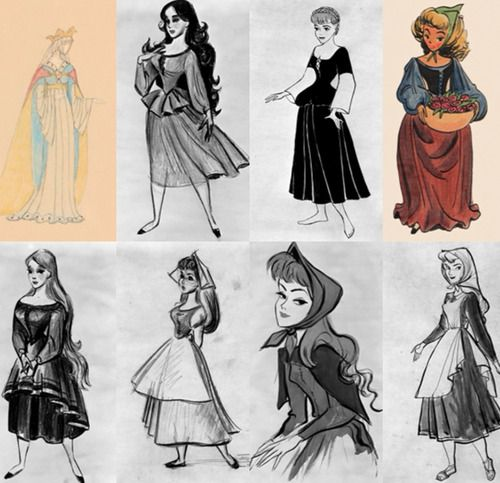 Original Sleeping Beauty sketches