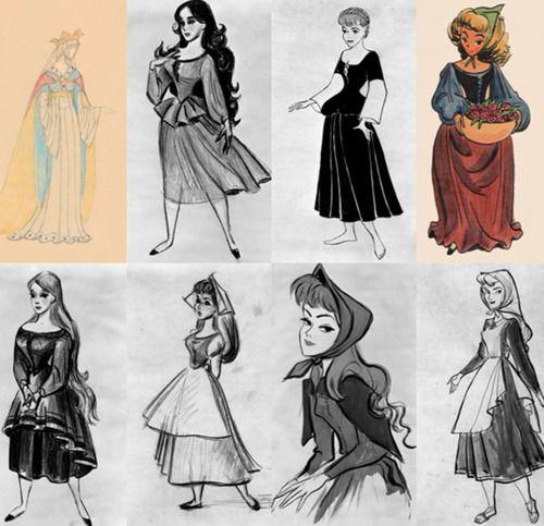 Original Sleeping Beauty sketches